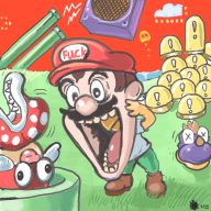 artist:stinkbug game:super_mario_world mario romhack streamer:vinny // 600x600 // 282.7KB