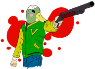 artist:the_line_guy game:animal_crossing game:hotline_miami jacket scoot streamer:vinny vinesauce // 1496x1099 // 201.0KB