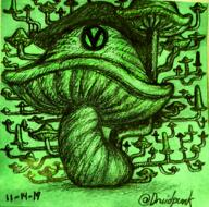 artist:Druidpunk pencil streamer:vinny traditional vineshroom // 720x713 // 1.3MB