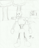artist:jfproductions game:undertale papyrus sans streamer:joel // 1579x1959 // 191.1KB