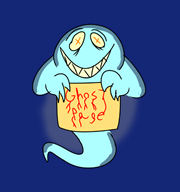 artist:donkeyshspittle cartoon ghost ghost_page red_vox streamer:vinny // 656x699 // 103.8KB