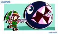 artist:chainchomped chain_chomp game:link's_awakening streamer:vinny // 1500x880 // 272.7KB