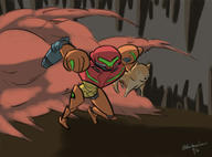 artist:rainbowfission dog game:metroid_samus_returns samus streamer:vinny // 1899x1400 // 1.1MB