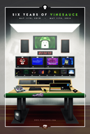 6th_anniversary artist:piergaming birthday desk poster vinesauce // 1077x1600 // 695.5KB