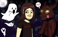 artist:mamizou-sama ghosts skeletor spooky streamer:joel // 802x506 // 133.8KB