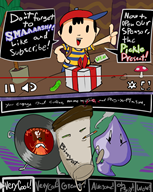 artist:bitgreen coffee game:earthbound ness red_vox scalding_cup_of_coffee streamer:vinny // 960x1200 // 672.3KB