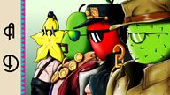 Durian_Daniel apple_dave artist:crymsonwrench jojo parody pear_joe star_fruit_blaze streamer:vinny // 1920x1080 // 2.3MB