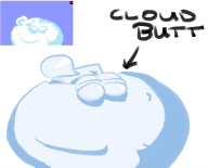 artist:bluekazuki butt cloud streamer:joel // 823x667 // 131.7KB