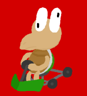artist:otherthatguy corruptions epilepsy_warning game:super_mario_kart koopa mario_kart // 296x325 // 17.4KB