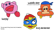 artist:joelzephead derp game:kirby_planet_robobot king_dedede kirby streamer:vinny vinesauce waddle_dee // 1280x720 // 371.8KB