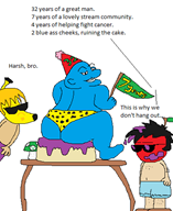 7_years apple_dave artist:lamango banana_chad birthday mspaint ralph_bluetawn streamer:vinny vinesauce // 396x482 // 19.4KB