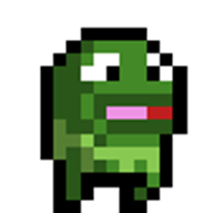 animated artist:mr_wiggles kermit pixel_art streamer:joel // 100x100 // 8.9KB