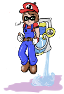 artist:regicidehotline game:super_mario_sunshine streamer:mentaljen // 829x1205 // 433.3KB