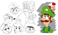 artist:leeling corruptions game:super_mario_64_DS game:super_mario_sunshine luigi mario streamer:vinny toad // 1204x728 // 486.1KB