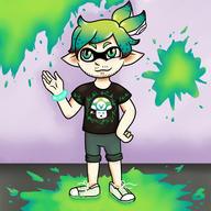 artist:Kasumi_draws game:splatoon game:splatoon_2 inkling streamer:vinny vinny_inkling // 500x500 // 261.9KB