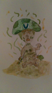 artist:assgoblin game:earthbound shrooom! streamer:vinny vinesauce watercolor // 666x1184 // 61.5KB