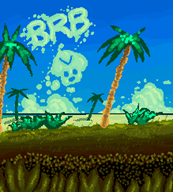 artist:ultra64 beach brb pixel_art vinesauce vineshroom // 1095x1210 // 83.6KB