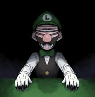 artist:sir corruptions game:super_mario_64_DS luigi streamer:vinny // 900x920 // 357.2KB