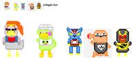 artist:xolta game:animal_crossing ganon hopper inkwell medli scoot streamer:vinny // 596x266 // 8.5KB