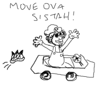artist:ramiels game:action_girlz_racing game:mario_kart_7 streamer:vinny // 530x491 // 100.4KB