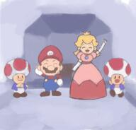 artist:johnny character_mario character_princess_peach character_toad corruptions game:super_mario_64 streamer:vinny // 480x459 // 511.2KB
