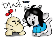 artist:thatguy2 game:earthbound game:undertale mr.saturn streamer:joel temmie undertale_spoilers // 417x275 // 33.3KB