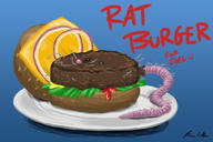 Ratburger artist:BrianCAllen burger streamer:joel // 1800x1200 // 707.0KB