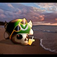 artist:Brownie beach streamer:joel vargshroom // 1920x1920 // 3.3MB