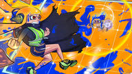artist:endei congratulations fanmade fight game:splatoon_2 inkling octo_expansion octoling parody streamer:vinny // 1920x1080 // 2.1MB