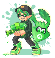 artist:hikikotoko game:splatoon squid streamer:vinny vinesquid // 747x781 // 294.9KB