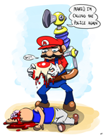 artist:dynamicafro game:super_mario_sunshine streamer:vinny toad // 989x1300 // 469.2KB