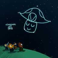 artist:daxerdoodle brb game:longest_night streamer:vinny vineshroom // 700x700 // 185.1KB