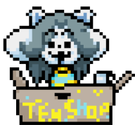 animated artist:lightdasher sprite streamer:joel tem temmie // 168x156 // 11.2KB