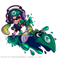 artist:nasnumbers game:splatoon inkling squids streamer:vinny vinesauce vinesquid // 800x800 // 559.0KB