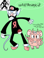 artist:cinnapepper cap game:pokemon_blue hardcore_fridays pokemon streamer:joel team_rocket waluigi wario // 1300x1700 // 506.5KB