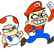 artist:chimeracorp game:nintendo_land mario streamer:ky streamer:vinny toad // 500x500 // 134.2KB
