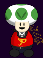 captain streamer:vinny toad vineshroom // 768x1024 // 178.5KB