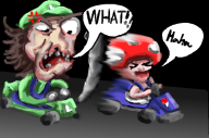 artist:lizzaroro game:mario_kart_7 luggy luigi streamer:vinny toad // 603x400 // 222.6KB