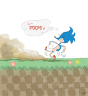 artist:musheroni doom_wads game:doom sanic streamer:joel // 958x1040 // 178.6KB