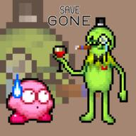 artist:brookiebroo game:kirby_super_star kermeat kermit kirby meat streamer:vinny // 400x400 // 6.7KB