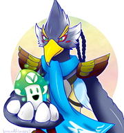 artist:brandflakes7 game:the_legend_of_zelda_breath_of_the_wild revali streamer:vinny vineshroom // 2350x2500 // 2.2MB
