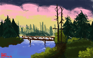 artist:silver-tan bob_ross streamer:joel // 885x554 // 802.2KB