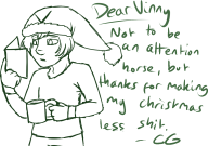 artist:counterfeitguise christmas sketch streamer:vinny // 1122x791 // 167.6KB