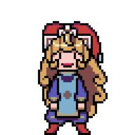 animated artist:Lizerus charlotte dance game:trials_of_mana pixel_art streamer:vinny // 256x256 // 206.6KB