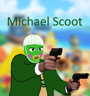Michael_Scott artist:maddoscientisto game:animal_crossing scoot streamer:vinny // 1000x1067 // 326.3KB