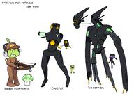 artist:capnsdraw creeper enderman game:minecraft streamer:vinny // 1373x988 // 95.1KB