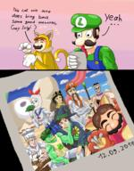alpaca artist:ocoto cling_on game:bowser's_fury game:miitopia game:super_mario_3d_world gordon_ramsay hotel_mario jojo jojo's_bizarre_adventure luigi lumberjahn mario neon_genesis_evangelion scoot speed_luigi sponge streamer:vinny tank_scoot two_faced // 1280x1640 // 1.2MB