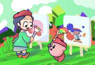 adeleine artist:ZacharyZachH game:kirby_64 game:kirby_star_allies kirby streamer:vinny // 2000x1388 // 339.2KB