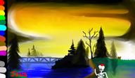 artist:averynicepizza bob_ross painting streamer:joel // 1444x849 // 1017.1KB