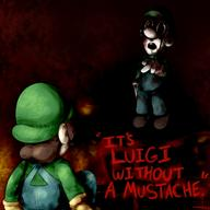 artist:Not_Nameless corruptions game:Luigi's_Mansion gamecube luigi spooky streamer:vinny // 1500x1500 // 1.7MB